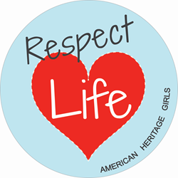 American Heritage Girls Respect Life Patch
